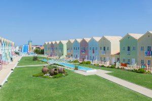 Jardines del hotel cristal praia en portugal, algarve